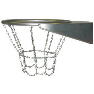 Panier de basket inox avec chaine anti-vadalisme