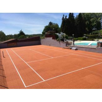 Dalles conformes aux exigences de le fédération francaise de tennis