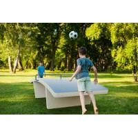 Table de foot-tennis exterieur en béton