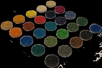 Personnalisez vos dalles amortissantes avec de la couleur