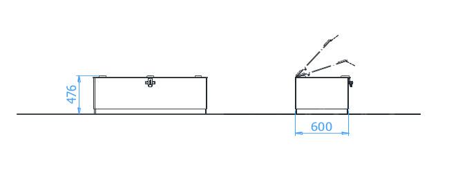 Plan d'implatantation des Boites de Rangements en Beton exterieur